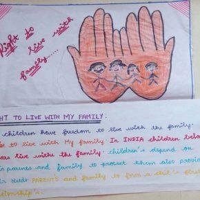 #1 Les dessins des enfants de l'association Volontariat illustrant leur réflexion sur le Droit à l'Identité et le Droit à la Famille