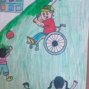 Les enfants indiens nous présentent leurs dessins sur l'égalité dans l'accès à l'école!